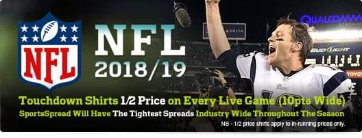 NHL 2018/19, Touchdown Shirts 1/2 Price on Every Live Game((10pts Wide) | SportsSpread Will Have The Tightest Spreads Industry Wide Throughout The Season