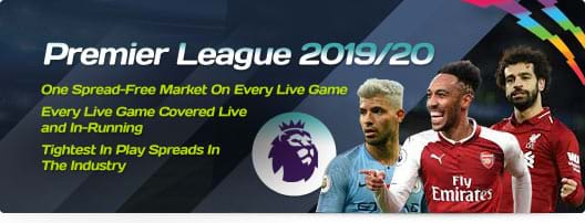 Premier League 2019/20 | One Spread-Free Market On Every Live Game | Every Live Game Covered Live and In-Running | Tightest In Play Spreads In The Industry