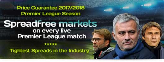 Spreadfree markets on every live Premier League match